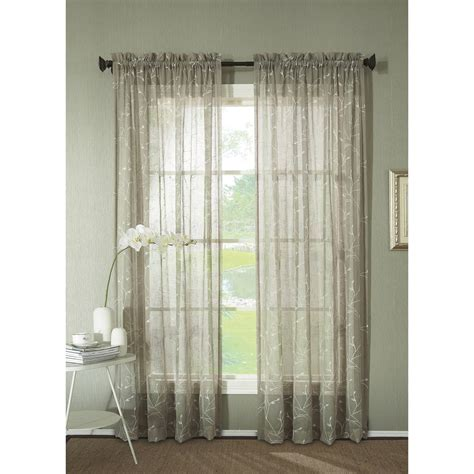 walmart sheer curtains curtain add fresh style and color to your home with
