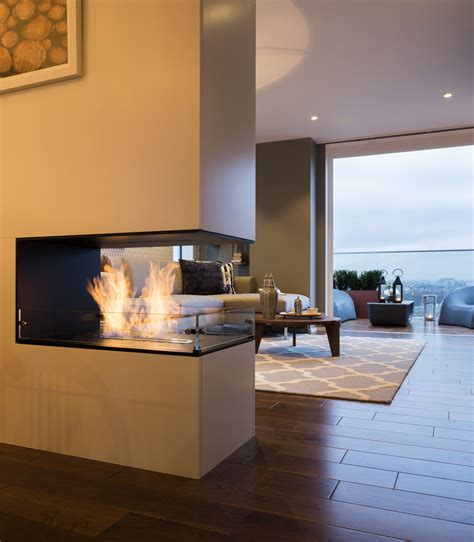 two sided fireplace striking three bedroom duplex exuding a personality