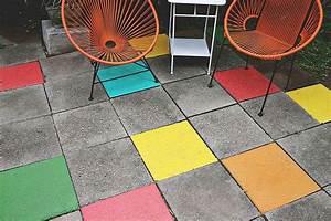 9 astuces pour dynamiser votre terrasse With peinture pour dalle beton