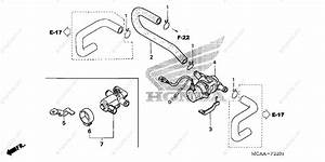 Honda Motorcycle 2008 Oem Parts Diagram For Air Injection Valve