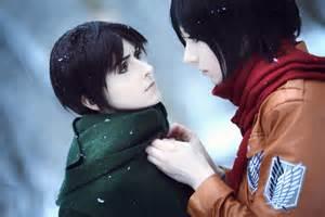 Mikasa Ackerman and Eren Jaeger Cosplay