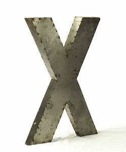 industrial rustic metal large letter x 36 inch kathy kuo With 36 inch metal letters