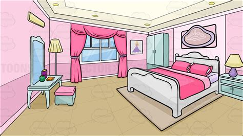 A Bedroom Of A Teenage Girl Background  Clipart By Vector