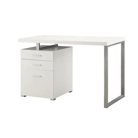 Coaster Computer Desk White by Coaster Hilliard 3 Drawer Computer Desk In White 800325