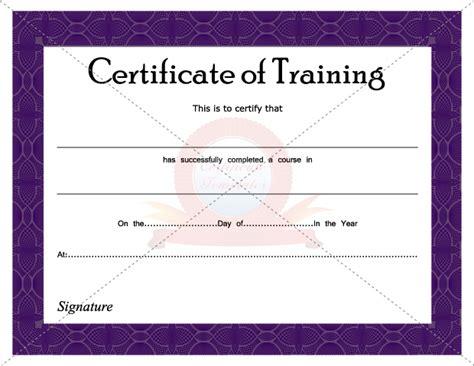 traininb certificate template certificate of training certificate template pinterest