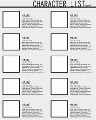 Best character template ideas and images on bing find what you character list template maxwellsz