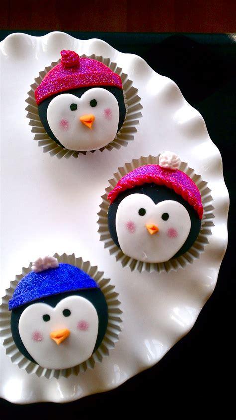 butrcreamblondi penguin cupcakes