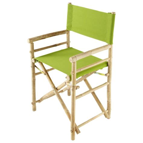 fauteuil pliant de jardin en bambou robinson maisons du