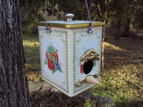 ooak bird house made from recycled and found objects