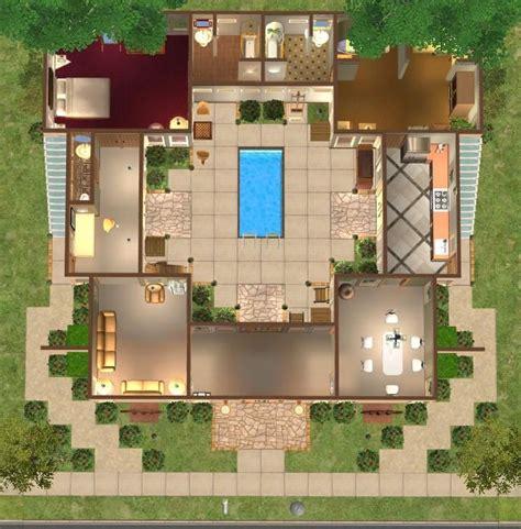 floor plans  courtyard google search courtyard house plans courtyard house beach house