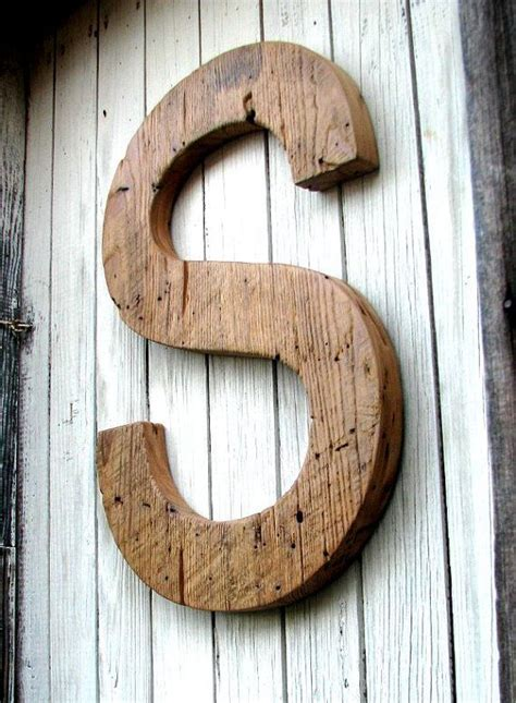 large rustic barn wood letter   inches tall reclaimed salvaged barn wood decor