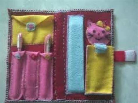 kerajinan tempat pensil dari kain flanel
