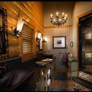 Luxury Log Cabin Homes Bathroom   DREAM HOME IDEAS   Pinterest