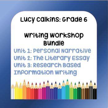 bundle lucy calkins lesson plans  grade writing workshop  units