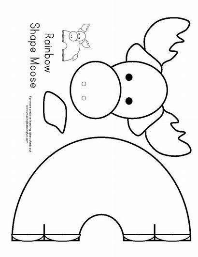 Moose Crafts Printable Template Preschool Christmas Mask
