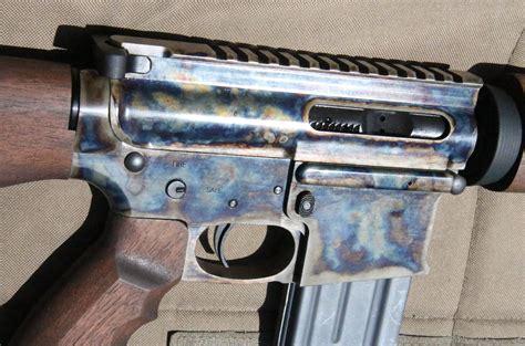 steel wood ar  custom case colored tar  rifle