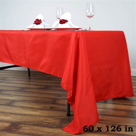 Tisch Mit Tischdecke by 60 Quot X 126 Quot Polyester Rectangular Tablecloth Wedding