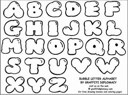 Block Letters Graffiti Printable Template Templates Letter