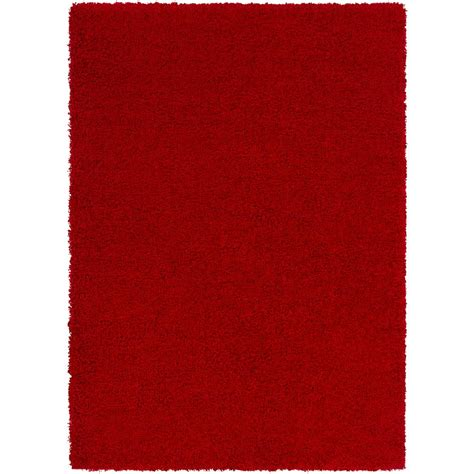 surya galaxy shag bright red 2 ft x 3 ft indoor area rug