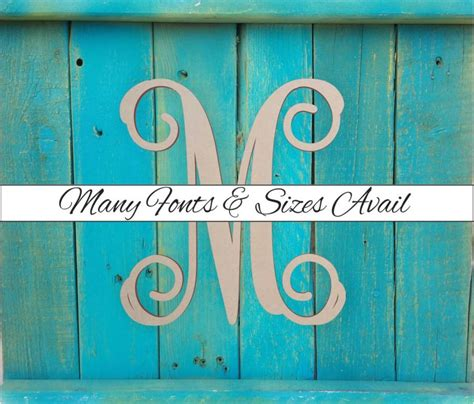 wooden monogram letter  large  small unfinished