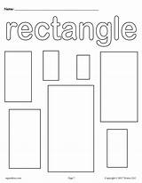 Coloring Preschool Pages Shapes Worksheets Printable Rectangle Shape Rectangles Toddler Activities Templates Colors Toddlers Worksheet Learning Sheets Printables Kindergarten Circle sketch template