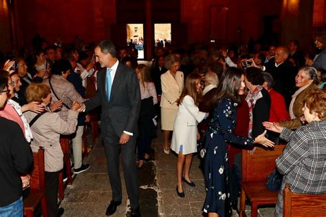 spanish royal family attends easter mass regalfille