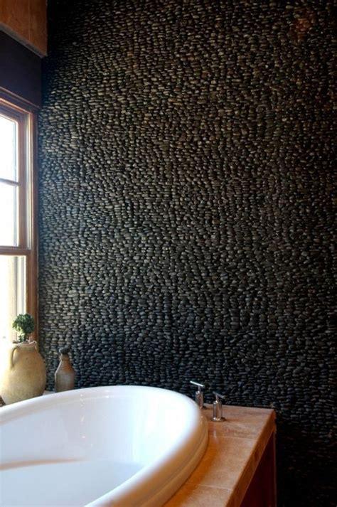 cuisine rustique grise le carrelage galet pratique revêtement pour la salle de bain