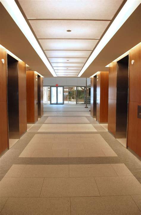 illuminated elevator lobby ceiling architecture