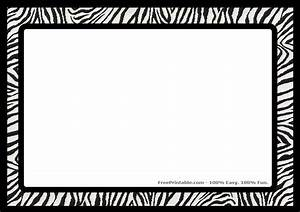 Zebra Invitation Template