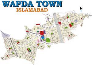 Wapda Town Islamabad Map