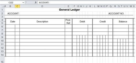Business Ledger Template by 9 General Ledger Templates Word Excel Pdf Formats