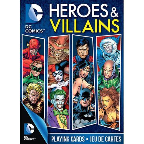 dc comics heroes villains playing cards