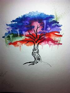 tattoo idea! Watercolor tree | Tattoos | Pinterest ...