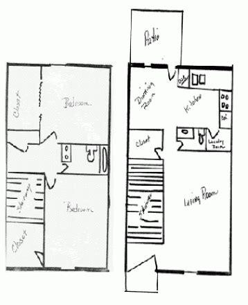 floor plans ecu east carolina university off cus housing search shiloh drive 2 bedroom townhouse 2br 1