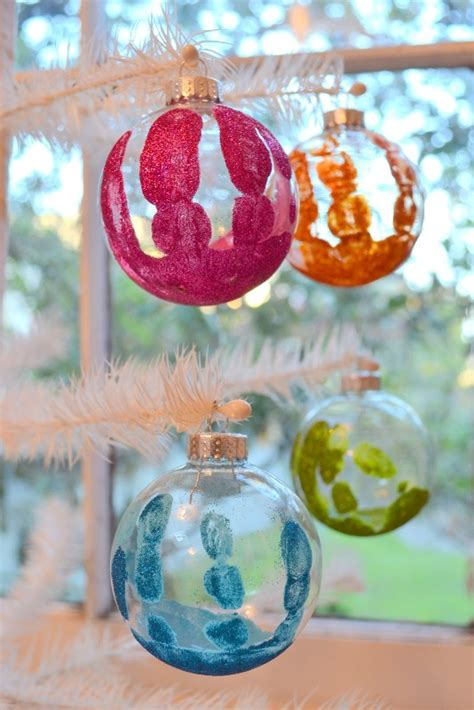 awesome handprint christmas ornaments ideas magment