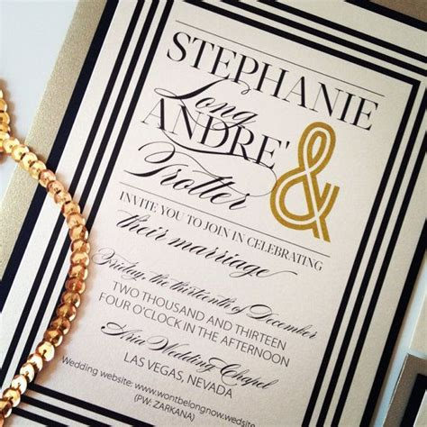 Ivory Gold and Black Wedding Invitations SUIT by