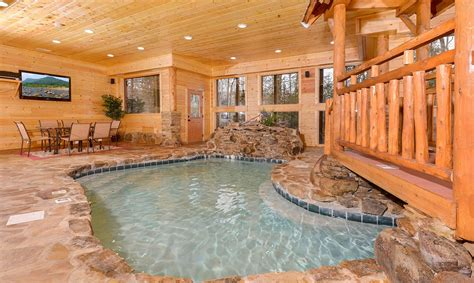 smoky mountain cabins with indoor pools pigeon forge cabins copper river