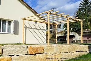 Pergola Bausatz Holz : pergola aus granit mit holz im set zu g nstigen konditionen ~ Articles-book.com Haus und Dekorationen