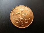 1971 Two Pence Coin in Uncirculated First Issue of Decimal ...