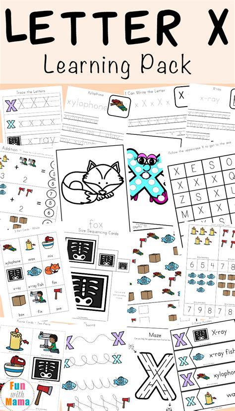 letter x worksheets for preschool kindergarten 212 | Letter X Learning Pack P