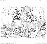 Outline Cat Coloring Fox Royalty Talking Illustration Clipart Bannykh Alex Rf Copyright Without sketch template