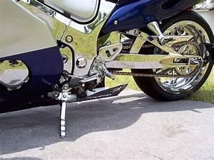 Chrome Hayabusa  Gsxr 1000 Chrome Python Short Kickstand