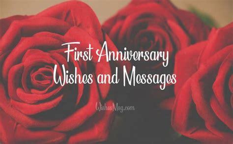 st anniversary wishes  anniversary messages wishesmsg