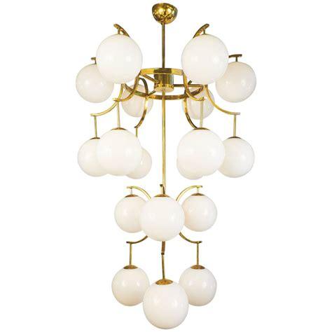 mid century style murano glass globe chandelier jean