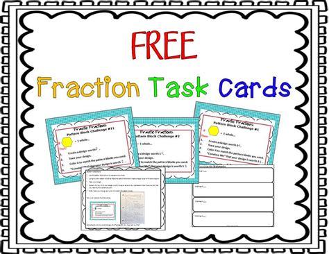 equivalent fraction task cards hands   images