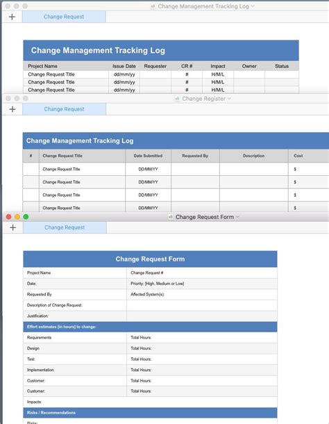change template change management plan template apple iwork pages