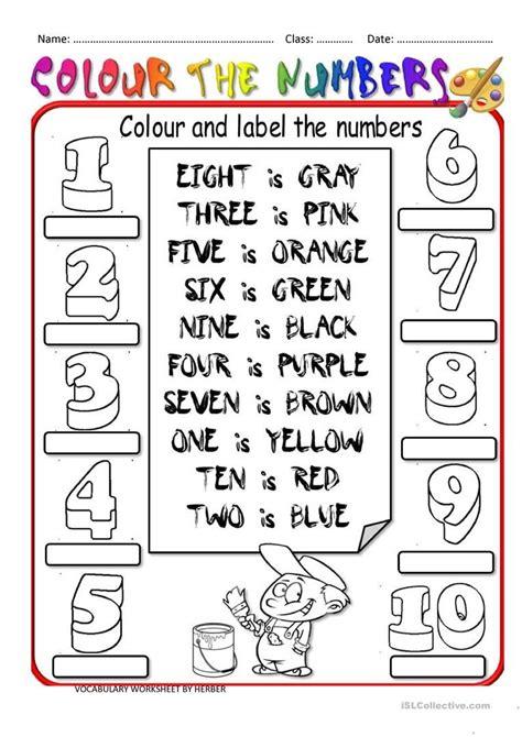 color by numbers salon teaching worksheets numbers esl printables 8841475