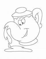 Kettle Coloring sketch template