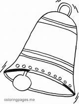 Coloring Bell Church Clipart Bells Popular sketch template