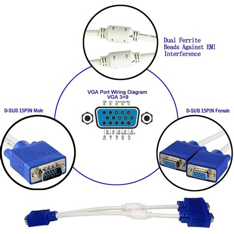 Vga Extension Cable Wiring Diagram by Wrg 3813 9 Pin Vga Cable Wiring Diagram